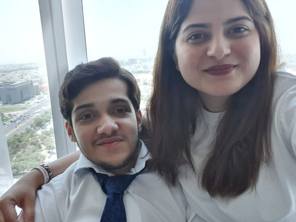 Photo of Inclusive Co-founder Hafsa Qadeer with her Brother Ahmad