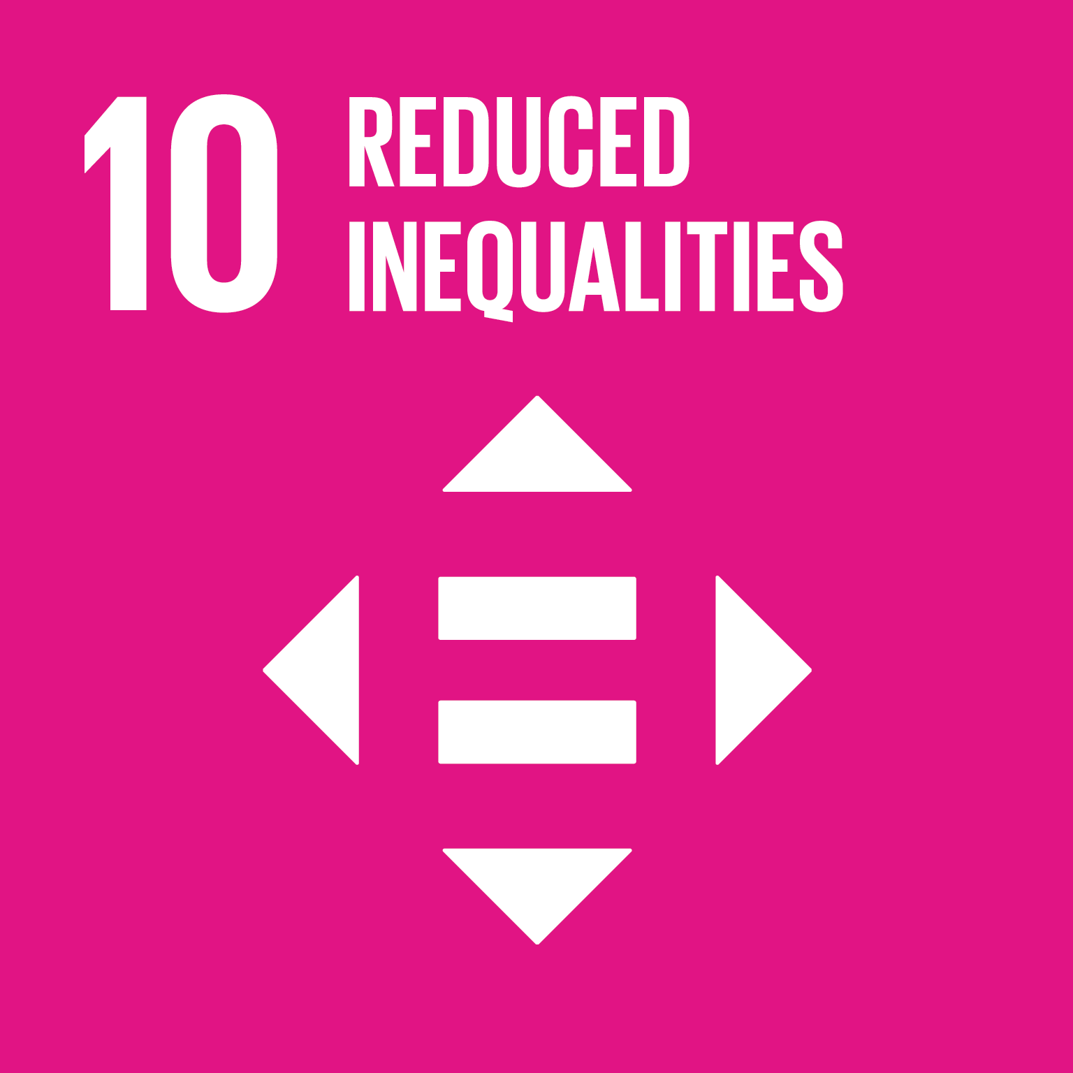 10th goal is reduced inequality