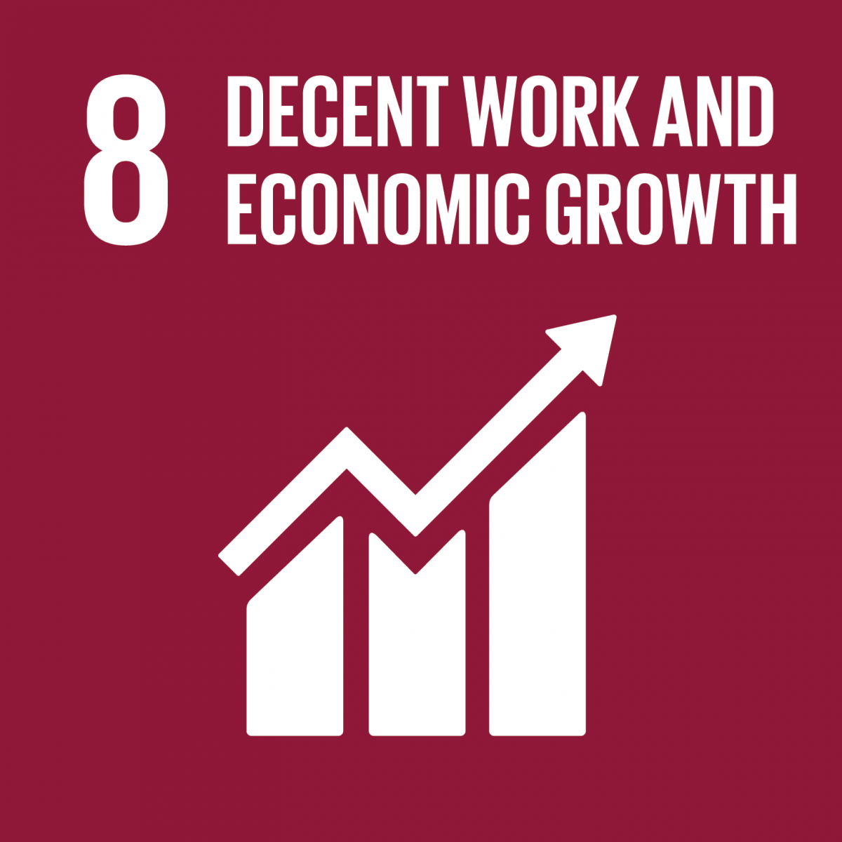 8th Goal is Decent Work and Economic growth