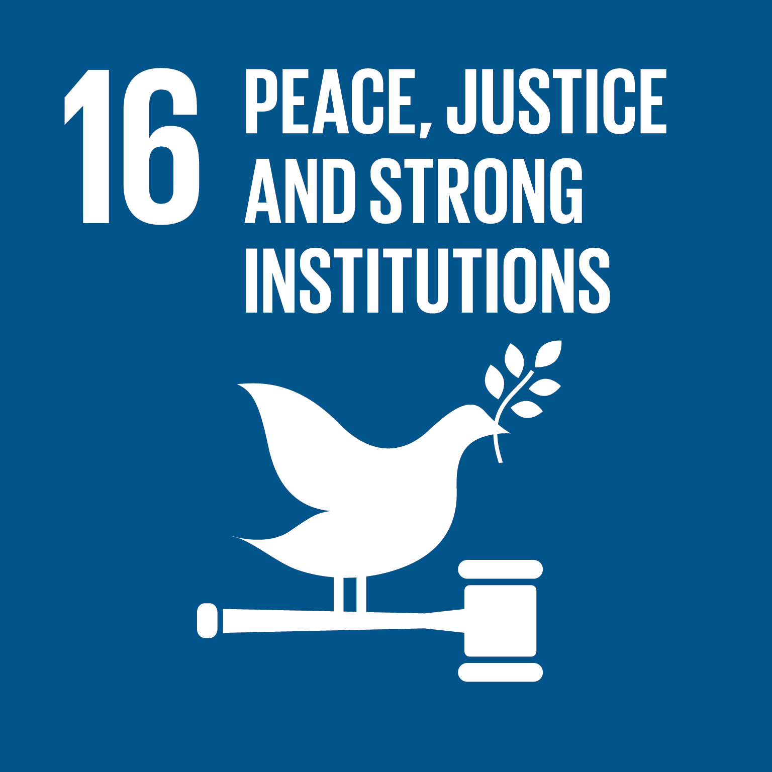 16th goal is Peace, justice and strong institutions